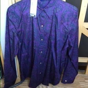 Paisley button shirt